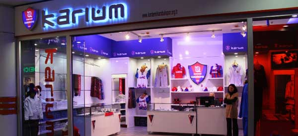 The exterior of Kardemir's club shop