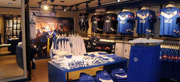 The interior of Kasimpasa's club shop
