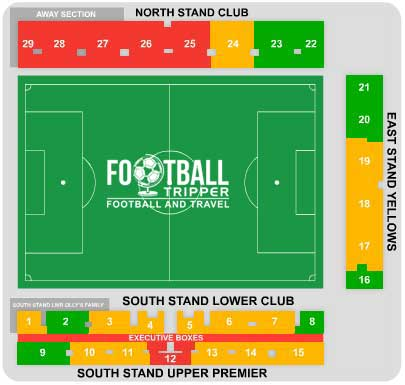Kassam Stadium Seating Plan