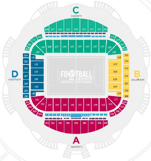 Kazan Arena Stadium Map