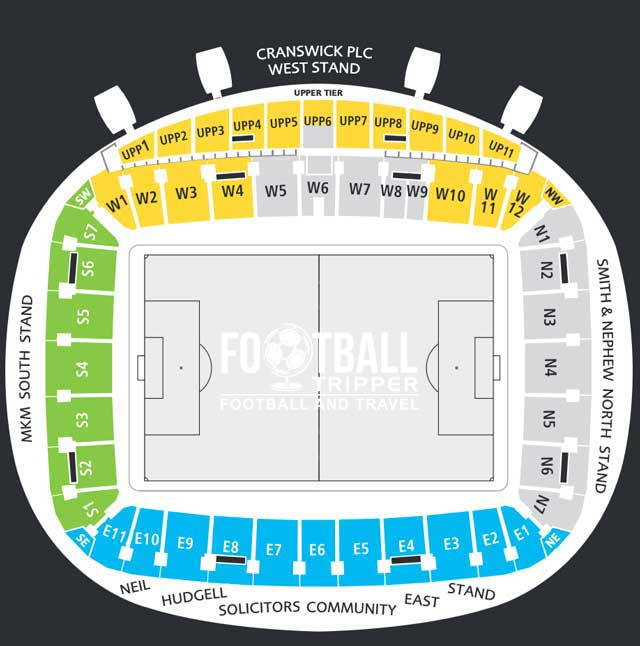 KC Stadium Seating Plan
