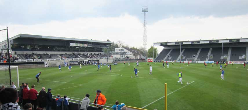 Inside Kehrwegstadion on matchday