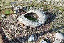 Aerial view of Khalifa Stadium rendered