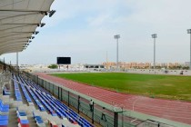 Inside view of Khalifa Sports City Stadium