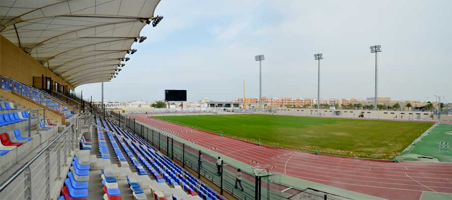 Inside view of Khalifa Sports City Stadium