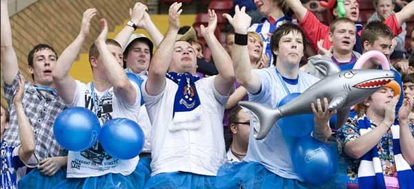 Kilmarnock supporters inside the stadium