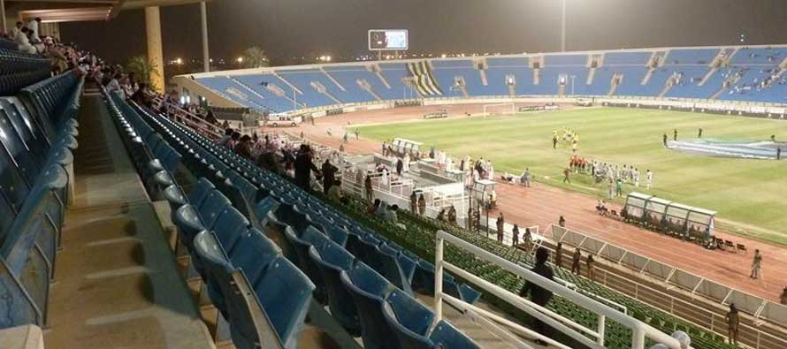 The pitch at King Abdullash Sports City Stadium