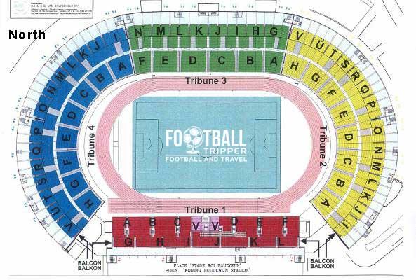 Stadium plan for King Baudouin Stadium