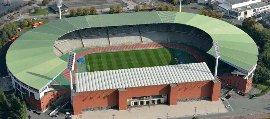 Aerial shot of the King Baudouin Stadium
