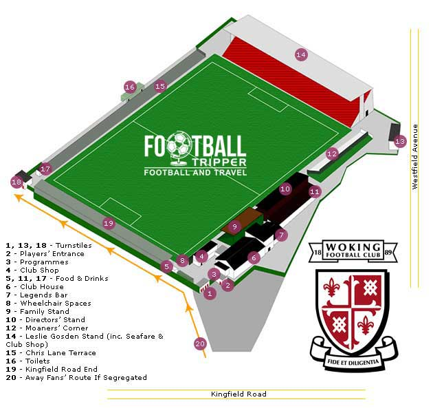 Kingfield Stadium Seating Plan