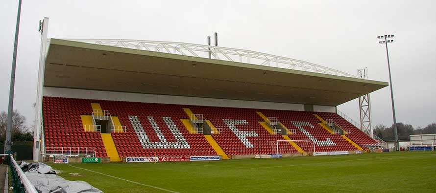 Kingfield Stadium main stand