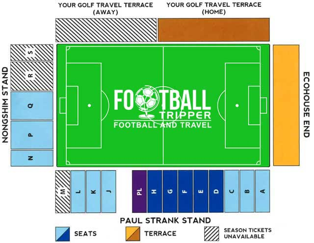 Kingsmeadow Stadium Seating Plan