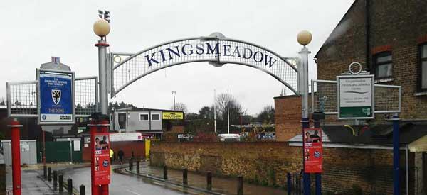 The entrance of Kingsmeadow Stadium
