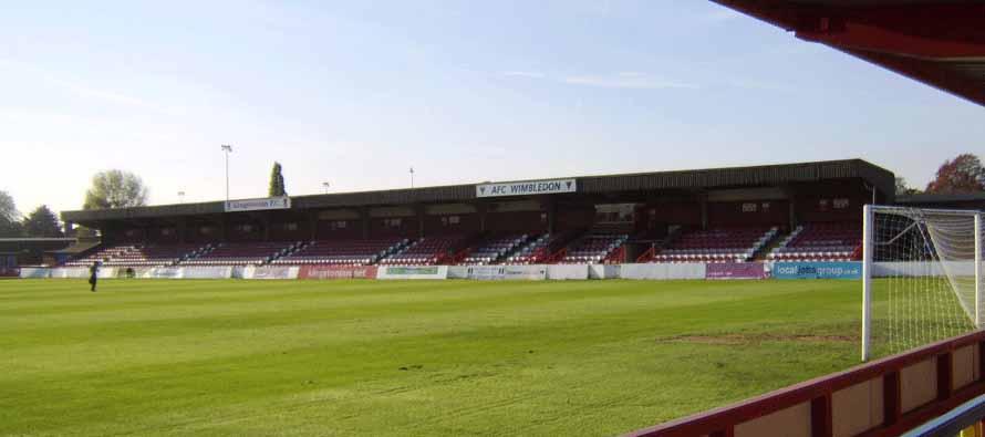 Inside Kingsmeadow Stadium
