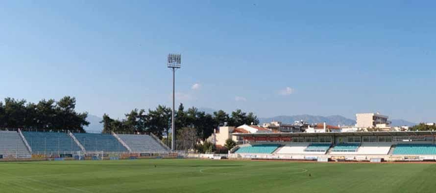 Th pitch at Komotini Municipal Stadium