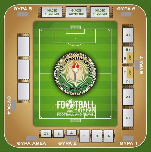 Komotini Municipal Stadium Seating Plan