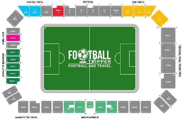 Konya Atatürk Stadium seating chart