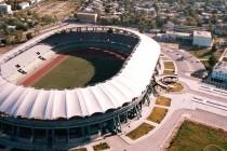 Aerial view of Kopetdag Stadium