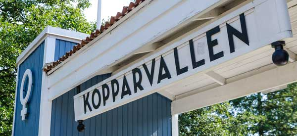 Entrane sign to Kopparvallen Stadium