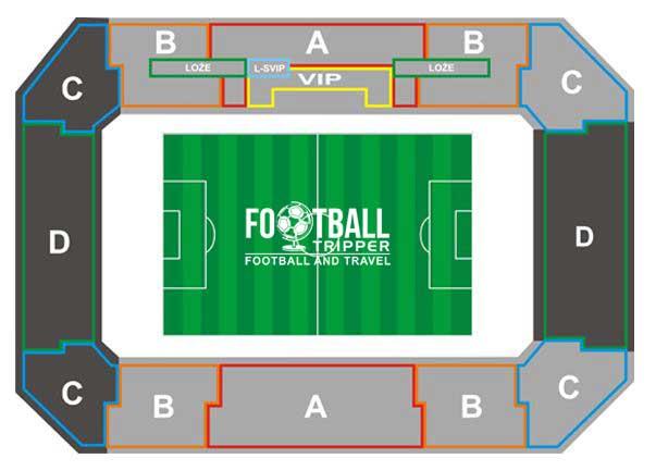 Stadion Miejski w Kielcach seating map