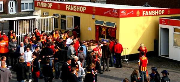 Exterior of KV Mechelen club shop