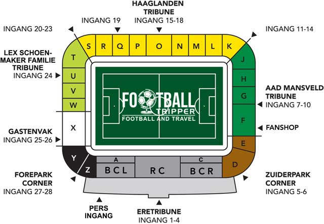Kyocera Stadion seating plan