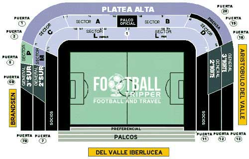 Seating chart for La Bombonera Stadium