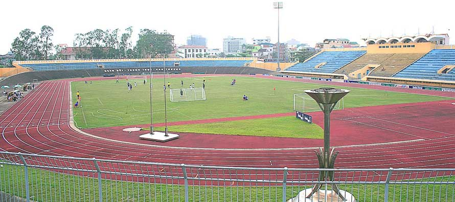 Lack Tray Stadium duing a training match
