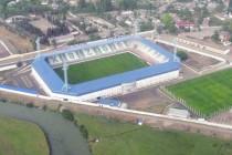 Aerial view of Lankaran City Stadium