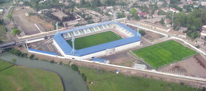 Aerial view of Lankaran City Stadium