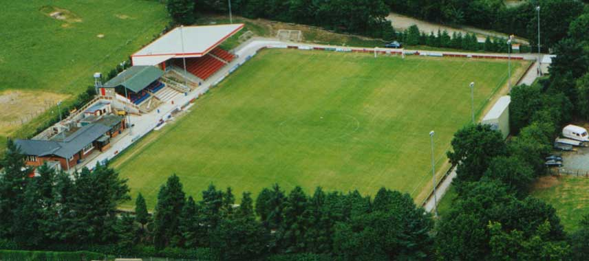 Aerial view of Latham Park Stadium