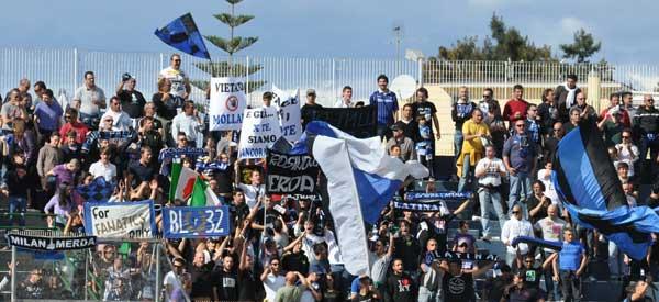 Latina Calcio supporters inside the stadium