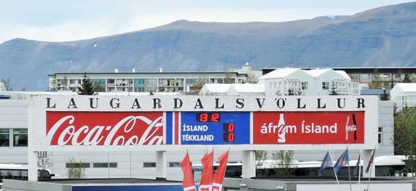 Laugardalsvöllur scoreboard