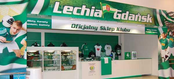 Exterior of Lechia gdansk club shop