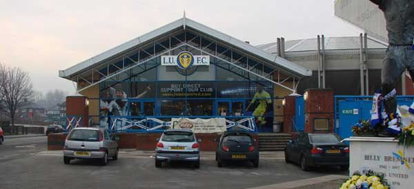 Exterior of Leeds United Club Shop