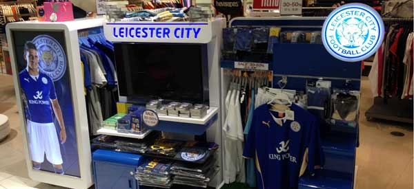 The interior of Leicester's club shop