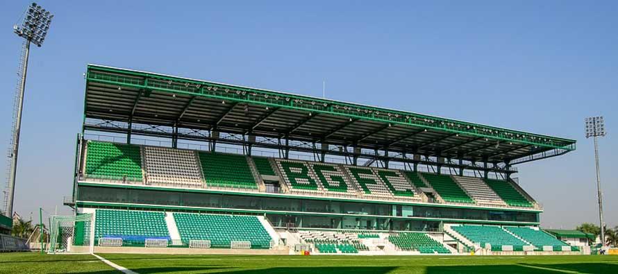 Leo Stadium's main stand