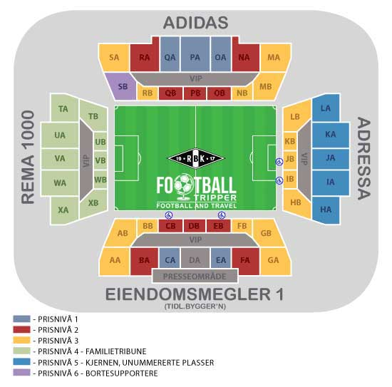 Lerkendal Stadion seating map