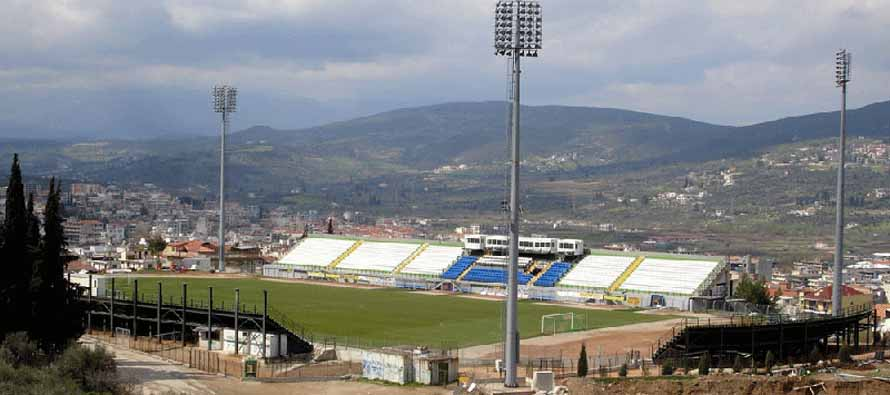 View of the Levadia Municipal Stadium