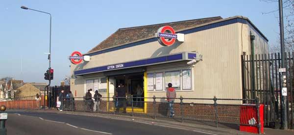 Exterior of Leyton Station