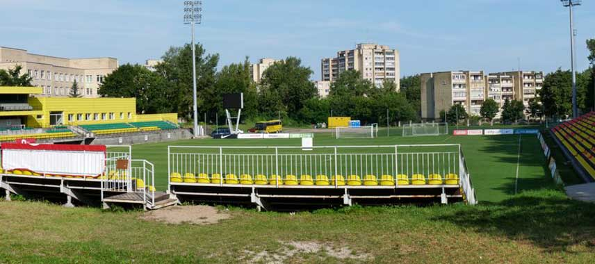 Behind the goal view of Vetra Stadium