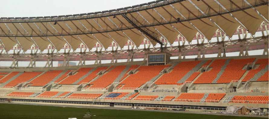 Inside Liaoning Whowin FC Stadium