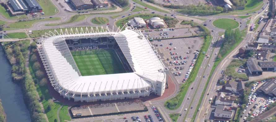 Aerial View of Liberty Stadium