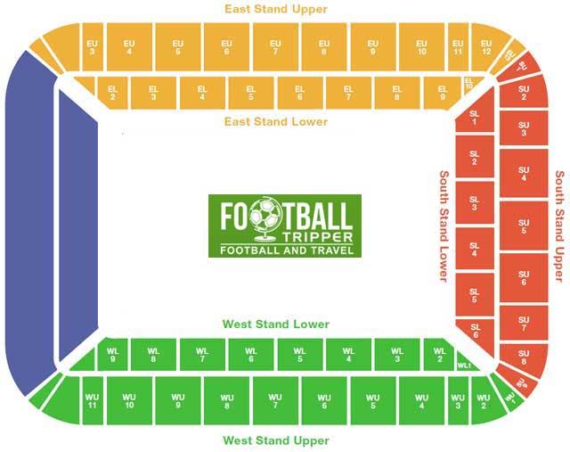 Libery Stadium Seating Plan