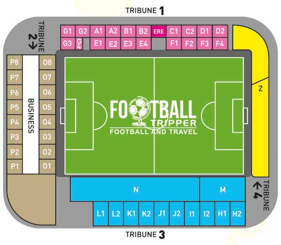 Herman Vanderpoortenstadion seating plan