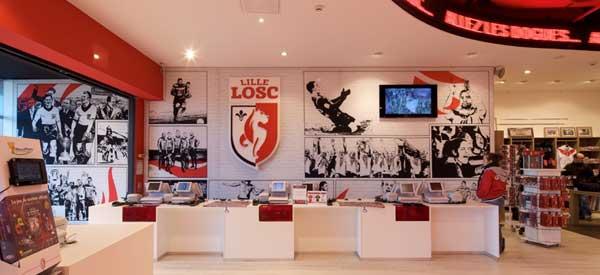 Inside Lille OSC Club shop
