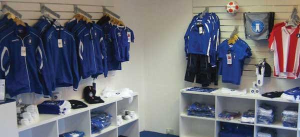Interior of Limerick FC club shop