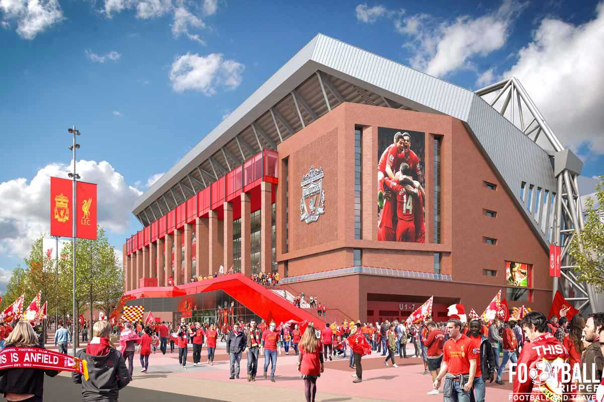 Exterior concept design of Anfield Redvelopement