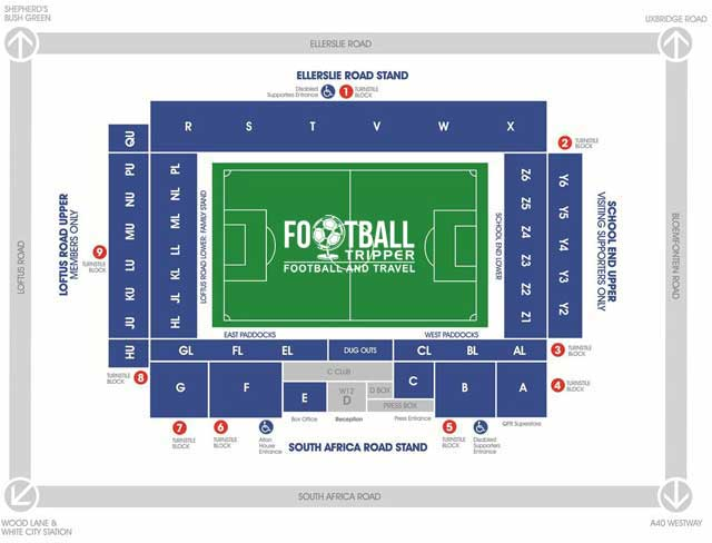 Loftus Road Seating Plan