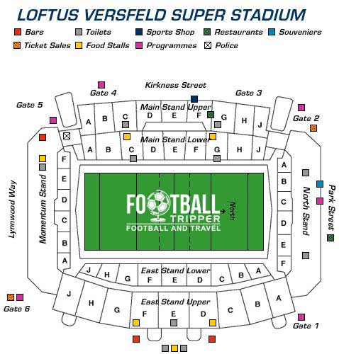 Loftus Versfeld Stadium seating map